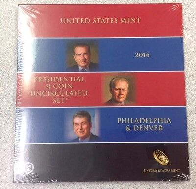 2016 P&D Presidential $1 coin uncirculated set - SEALED US Mint - dbA