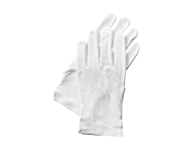 White Cotton Gloves Butler Beauty Moisturising Cream Magician Dermatological Lot