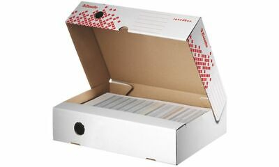 25x Esselte Archiv-Klappschachtel SPEEDBOX DIN A4+ Pappe weiß rot 250x350x80mm
