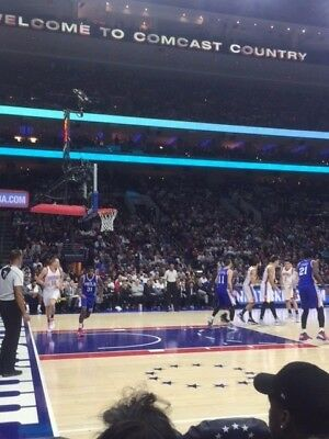 2 76ers vs Nets Row 1 AMAZING LOWER LEVEL Tickets THUR 3/28 AISLE EARLY ACCESS