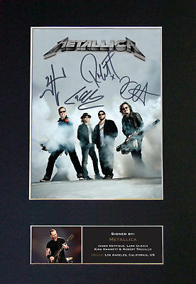 Metallica - Signed By All Band Members - *RARE* Autographed Photographed