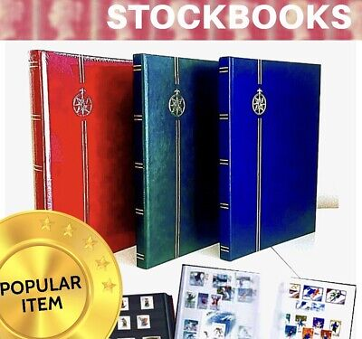 ⭐️ 16 Pages / Stamp Stockbook - Select Any Colour! ⭐️ A4 Size Stock book Albums