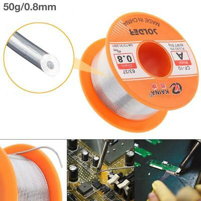 a4526969611 Tin Le Solder Core Flux Soldering Welding Wire Spool Reel 0.8mm 50g 63 37