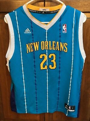 74f7725ae adidas New Orleans Hornets Pelicans Anthony Davis   23 Swingman Jersey Boys  L
