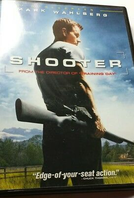 Shooter DVD movie Mark Wahlberg previously viewed used Widescreen