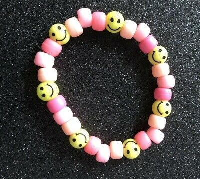 Acid House smiley Face Rave Bead Bracelet BNWT Party 90s Old Skool  Festival