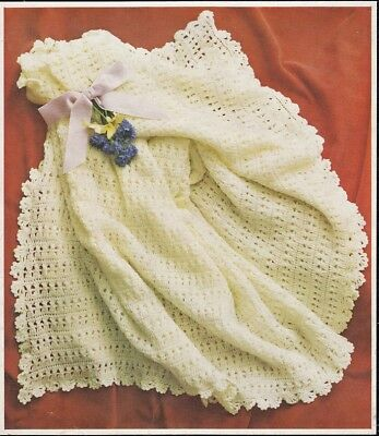 Baby CROCHET Pattern copy Gorgeous LACY Shawls 4 ply