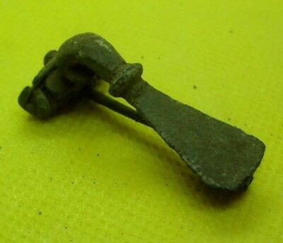 Ancient Roman Bronze Fibula Brooch - 100/300 Ad