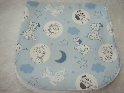 101 Dalmations Time For Bed Blue Burp Cloth Handmade