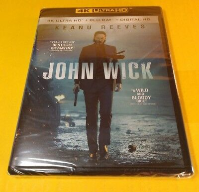 John Wick (4K Ultra HD Blu-ray/Blu-ray+Digital)Brand NEW-Free Shipping w/Trackin