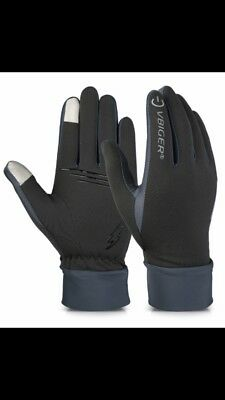 Vbiger Retro Cycling Sport Gloves Winter Warm Touch Screen Texting Gloves Size L