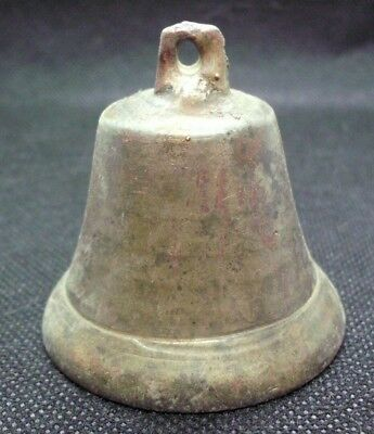ANCIENT ROMAN MEDIEVAL BRONZE BELL - COMPLETE, WORKING - restored