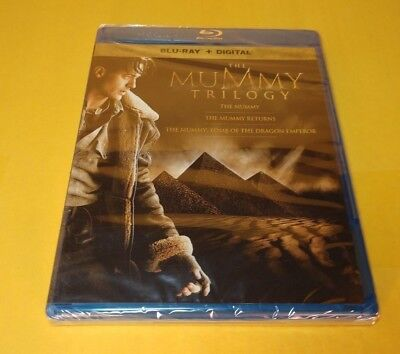 The Mummy Trilogy(Blu-ray+Digital,3-Disc Set)NEW(Sealed)-Free S&H with Tracking