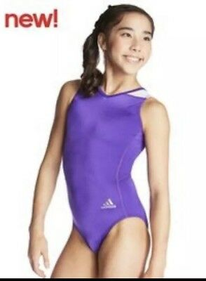 Ladies Adidas Size ASM Purple Dance Gymnastics Leotard BNWT New