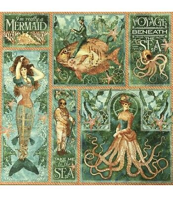 "G45 - Voyage Beneath the Sea D/Sided Cardstock 12""X12"" - Mermaid Melody"
