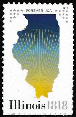 US 5274 Statehood Illinois forever single (1 stamp) MNH 2018