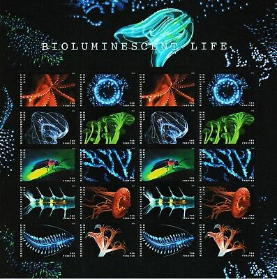 US 5264-5273 5273a Bioluminescent Life forever sheet MNH 2018
