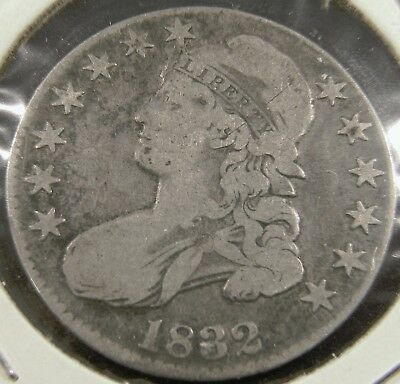 1832 Capped Bust Half Dollar 50C, Overton  103, R1, Fine, Small Letters