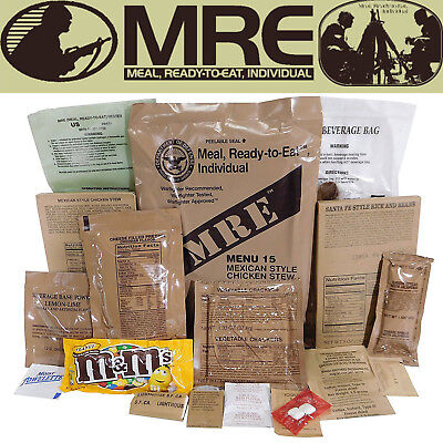 MILITARY US ARMY MRE NATO Food Ratio Emergency Combat Survival Camping Meal 1-24