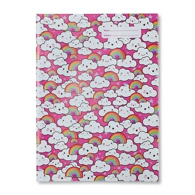 NEW Spencil Clouds & and Rainbows A4 School Book Cover