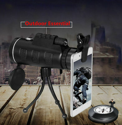 PANDA 40X60 HD Dual Focus HD Optical Prism Monocular Telescope + Tripod + Clip