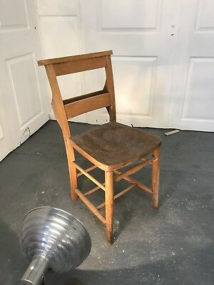 Chapel Chair Dining Antique Seat Vintage