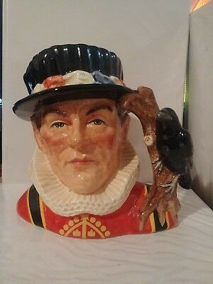 "!large Royal Doulton Character Jug: The Yeoman Of The Guard D6873 7"" 1991-1997"