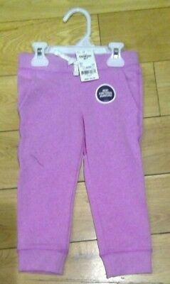 Girls OSHKOSH B'gosh Sweat Fleece Soft Pants Tracksuit Bottoms Ages 2 (2T)
