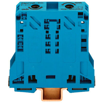 WAGO 285-154 2 Conductor 150A Side Entry Through Terminal Block Blue