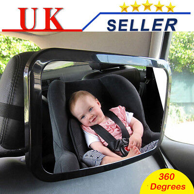 Baby/Child Adjustable Wide View Rear Back Seat Car Safety Mirror Headrest Mount