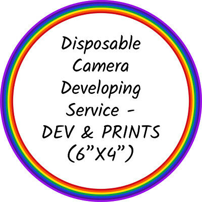"Disposable Camera Developing/Processing - DEVELOP & PRINT Service (6""x4"" Photos)"