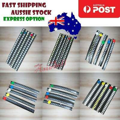 100pc 5050 5730 0603 0805 1210 1206 SMD LED Kit Red Green Blue White Yellow LEDs