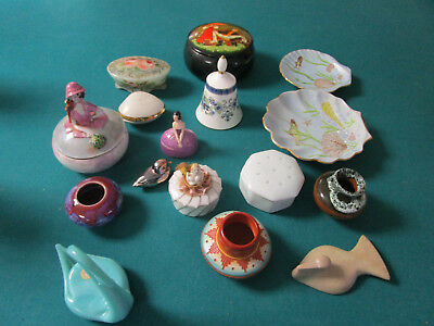 Trinket Box And Vanity Items 16 Pcs Lot