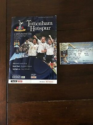 TOTTENHAM HOTSPUR v MANCHESTER CITY FA CUP FOURTH ROUND REPLAY +TICKET 2003/2004