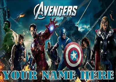 Avengers Poster A4 Print, Add Any Name