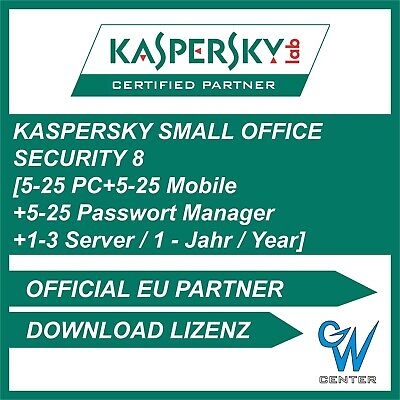 Kaspersky Small Office Security 6 [5-25 PC + 5-25 Mobile + 1-3 Server | 1 Jahr]