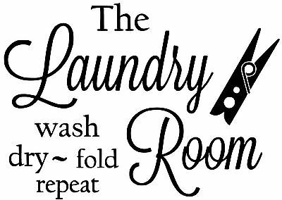 Laundry Room Wall Decal / Sticker