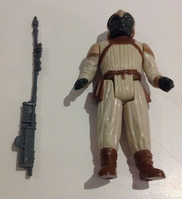 Vintage Kenner Star Wars Klaatu Skiff Guard Figure+Staff L.f.l. 1983 Superb