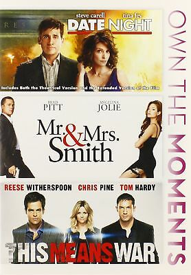 Date Night / Mr & Mrs Smith / This Means War (DVD, 2014, 3-Disc) NEW