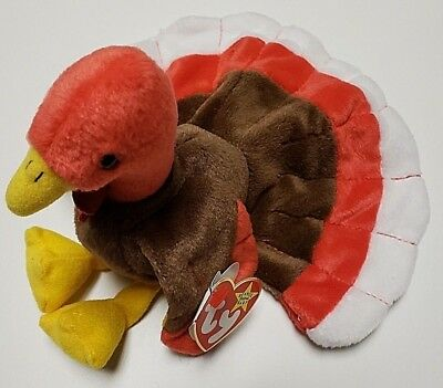 TY BEANIE BABY - GOBBLES the Turkey (7.5 inch) - DOB Nov 27 127acb663c3
