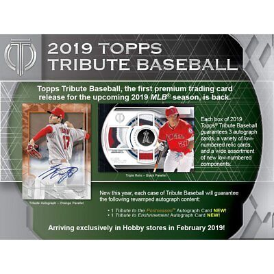 2019 Topps Tribute Baseball Hobby Sealed Box - Pre-Order!