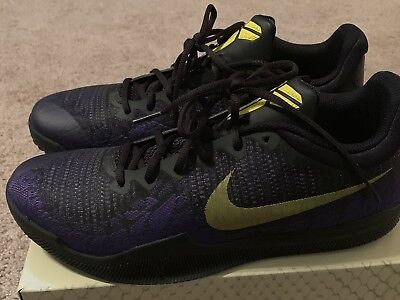 b43888f2a4ed Nike Kobe Mamba Rage 908972-024 Men Size 10 Black Yellow Purple NIB Jordan