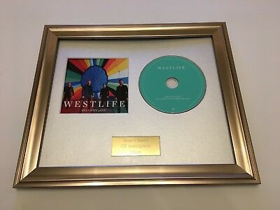 Westlife - Hello My Love Framed Cd Presentation. Limited Edition
