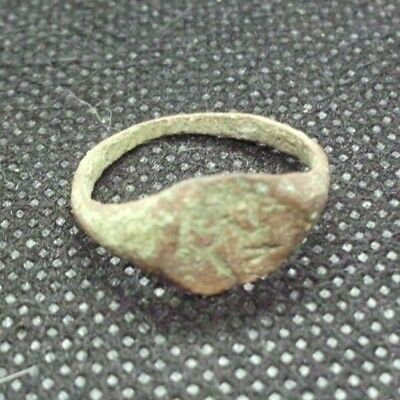Superb Ancient Celtic Roman Bronze Ring  -  100Bc/100Ad