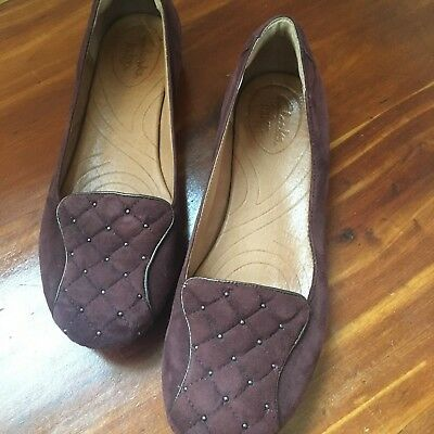 1fa1dcb74 Clarks Indigo Women s Shoes Suede Leather Ballet Flat .5