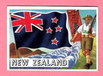 1956 Topps  Flags Of The World  #68  New Zealand