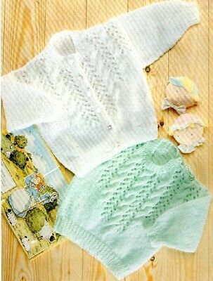 Baby knitting pattern CARDIGAN & Sweater 8 Ply