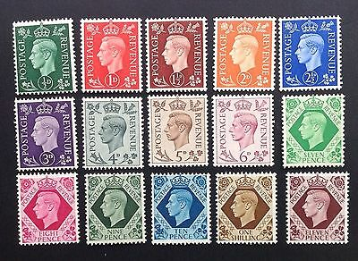 GB 1937 GV1 Definitives Stamps Set~Dark Colours~(15)~Unmounted Mint ~UK Seller
