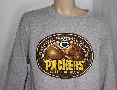 f41536344 VINTAGE GREEN BAY Packers Sweater Front Row Mens Size Large Whote ...