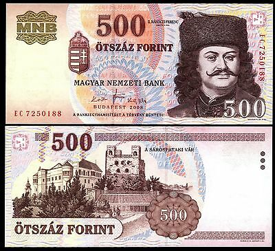 Hungary 500 Forint 2008 banknote P#188 Magyar Ungarn UNC